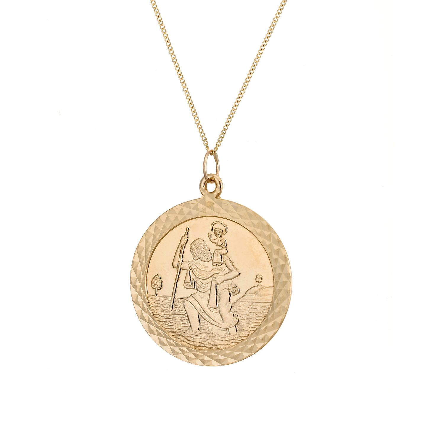9ct gold st christopher hmuel gold st christopher product number 3827968 mozeypictures Images