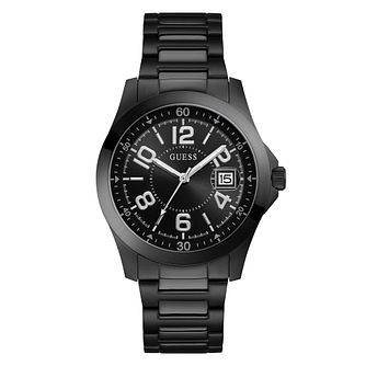 Guess Men's Black Stainless Steel Bracelet Watch - Product number 3828964