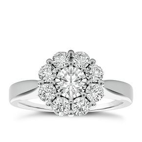 The Diamond Story 18ct White Gold 1ct HI I1Flower Burst Ring - Product number 3828972