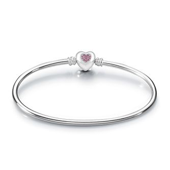Chamilia Pink Swarovski Zirconia Brilliance Heart Bangle - Product number 3829820