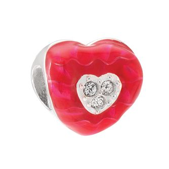 Chamilia Silver & Swarovski Crystal Twisted Heart Bead - Product number 3829871