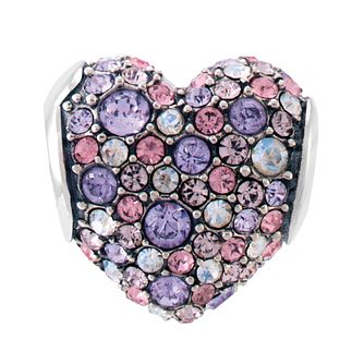 Chamilia Pave Gems Heart Charm with Swarovski Crystal - Product number 3829928