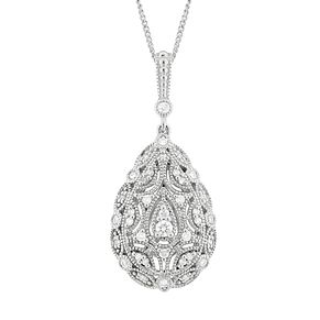 Neil Lane Sterling Silver 0.21ct Diamond Vintage Pendant - Product number 3830160