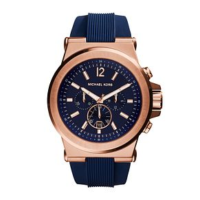 Michael Kors Men's Gold Tone Round Strap Watch - Product number 3833895