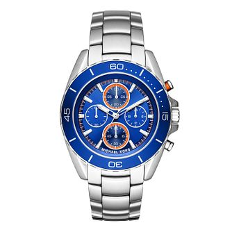 Michael Kors Men's Stainless Steel Jet Blue Bracelet Watch - Product number 3834085