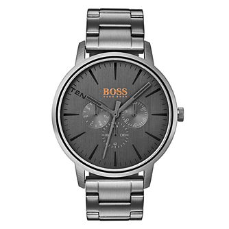 Boss Orange Copenhagen Men's Grey Ion Plated Bracelet Watch - Product number 3836177