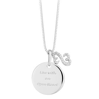 Open Hearts By Jane Seymour Silver & Diamond Disc Pendant - Product number 3853810