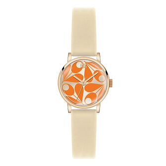 Orla Kiely Ladies' Cream Dial Cream Leather Strap Watch - Product number 3860752