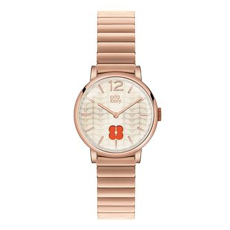 Orla Kiely Ladies' Rose Gold-Plated Bracelet Watch - Product number 3860787