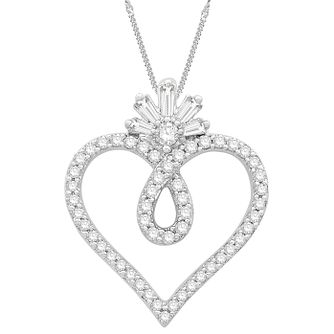 Emmy London Sterling Silver 0.18ct Diamond Heart Pendant - Product number 3864456