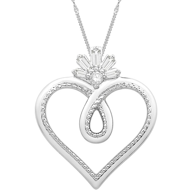 Emmy london sterling silver diamond heart pendant hmuel emmy london sterling silver diamond heart pendant product number 3864499 mozeypictures Choice Image