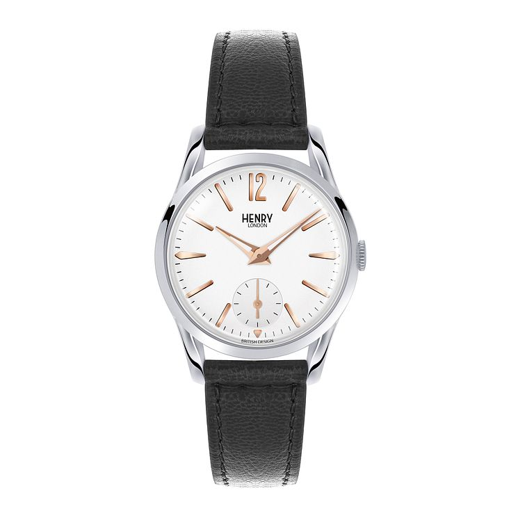 Henry London Men's Highgate Black Leather Strap Watch - Product number 3870022