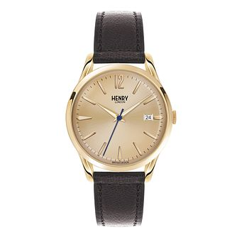 Henry London Men's Knightsbridge Gold Dial Strap Watch - Product number 3870812