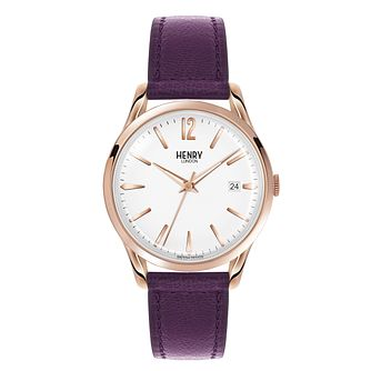 Henry London Ladies' Hampstead Purple Leather Strap Watch - Product number 3870855