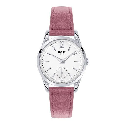 Henry London Ladies' Hammersmith Pink Leather Strap Watch - Product number 3870995