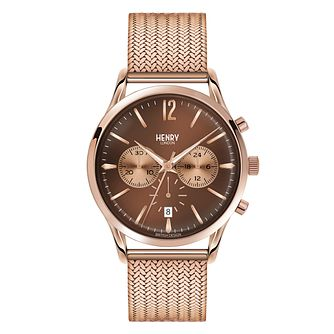 Henry London Men's Harrow Rose Gold-Plated Bracelet Watch - Product number 3871517