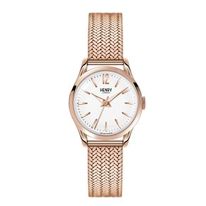 Henry London Ladies' Gold-Plated Mesh Bracelet Watch - Product number 3871568