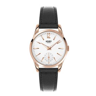 Henry London Ladies' Highgate Black Leather Strap Watch - Product number 3871576
