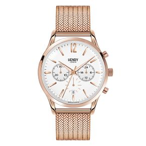 Henry London Ladies' Rose Gold-Plated Mesh Bracelet Watch - Product number 3871835