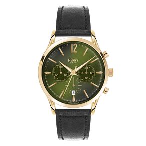 Henry London Men's ChiswickGreen Dial Leather Strap Watch - Product number 3871894