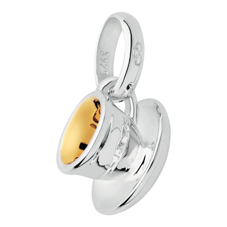 Links of London Silver & Gold-Plated Tea Cup Saucer Charm - Product number 3885372