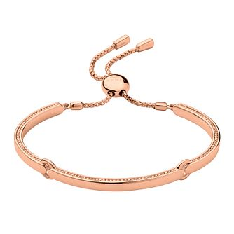 Links of London Narrative 18ct Rose Gold Vermeil Bracelet - Product number 3885445