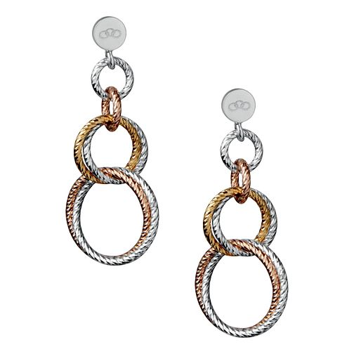 Links of London Aurora Silver & Rose Gold Vermeil Earrings - Product number 3885860