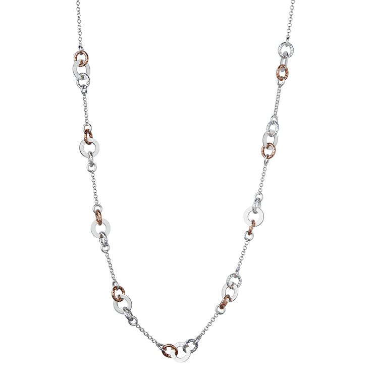 Links of London Aurora Rose Gold Vermeil Link Necklace 65cm - Product number 3885879