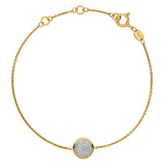 Links of London 18ct Gold Vermeil Diamond Round Bracelet - Product number 3885887