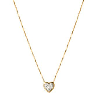 Links of London Diamond Heart 18ct Gold Vermeil Necklace - Product number 3888037