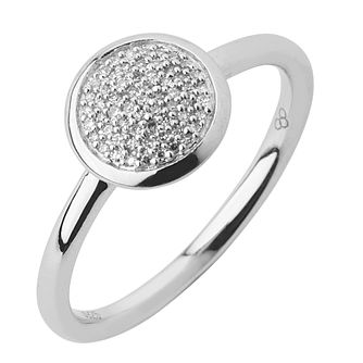 Links of London Sterling Silver Diamond Round Pave Ring S - Product number 3888053