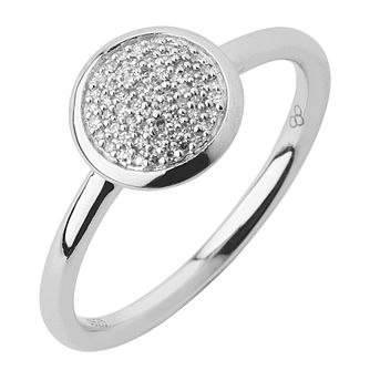 Links of London Sterling Silver Diamond Round Pave Ring M - Product number 3888061