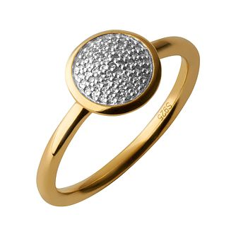 Links of London 18ct Gold Vermeil Diamond Round Pave Ring P - Product number 3888126