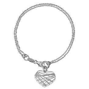 Links of London Dreamcatcher Sterling Silver Heart Bracelet - Product number 3888223