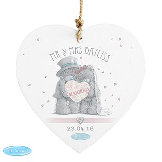 Personalised Me To You Wedding Heart Ornament - Product number 3890783