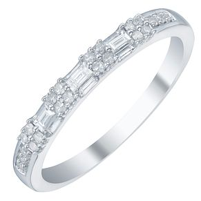 9ct White Gold 0.15ct Diamond Eternity Ring - Product number 3891372