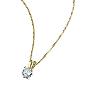 18ct two-colour gold 0.50ct diamond pendant - Product number 3892212