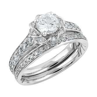 Angel Sanchez 18ct white gold 1.50ct diamond bridal set - Product number 3896714