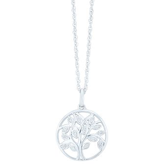 Sterling Silver Diamond Tree of Life Design Pendant - Product number 3896986