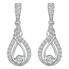 Interwoven Sterling Silver 1/4ct Diamond Earrings - Product number 3897028