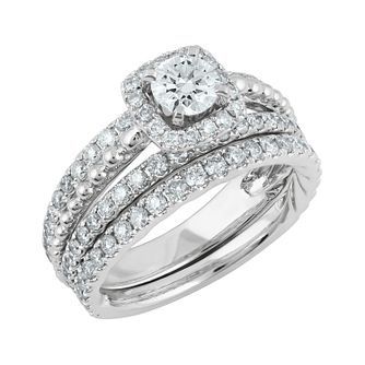Angel Sanchez 18ct white gold 1.75ct diamond bridal set - Product number 3899985