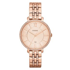 Fossil Jacqueline Ladies' Rose Gold tone Bracelet Watch - Product number 3904288