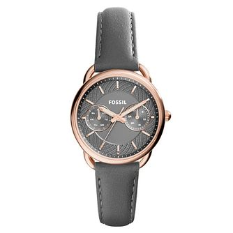 Fossil Ladies' Rose Gold-tone Grey Dial Strap Watch - Product number 3904326