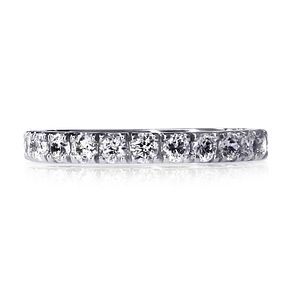 CARAT* LONDON 9ct White Gold Eternity Ring Size O - Product number 3905357