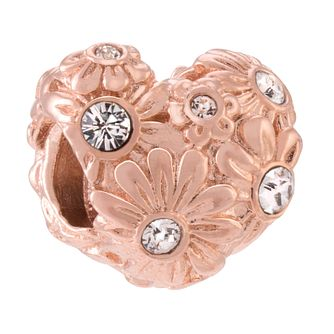 Chamilia Sterling Silver Rose Gold-Plated Zinnia Heart Charm - Product number 3905691