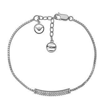 Emporio Armani Sterling Silver Stone Set Bracelet - Product number 3907430