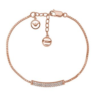 Emporio Armani Rose Gold Tone Stone Set Bracelet - Product number 3907686
