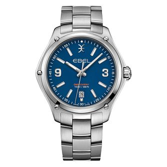 Ebel Discovery Men's Stainless Steel Blue Dial Watch - Product number 3908380