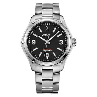 Ebel Discovery Men's Stainless Steel Black Dial Watch - Product number 3908399