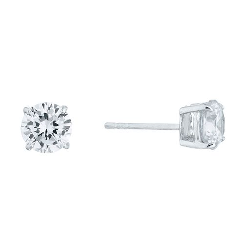 Silver Cubic Zirconia 6mm Stud Earrings - Product number 3909743